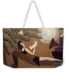 Tesla And White Dove Weekender Tote Bag