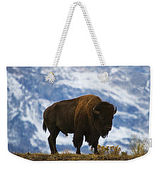 Teton Bison Weekender Tote Bag by Mark Kiver