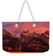 Weekender Tote Bag featuring the photograph Teton Color by Benjamin Yeager