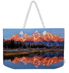 Weekender Tote Bag featuring the photograph Teton Majesty by Benjamin Yeager