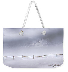 Weekender Tote Bag featuring the photograph Teton Morning by Priscilla Burgers