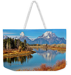 Weekender Tote Bag featuring the photograph Teton Tranquility by Benjamin Yeager