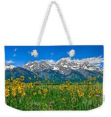 Teton Peaks And Flowers Weekender Tote Bag