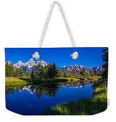 Teton Reflection Weekender Tote Bag by Chad Dutson