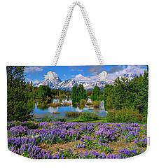 Teton Spring Lupines Weekender Tote Bag by Greg Norrell