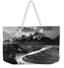 Tetons And The Snake River Weekender Tote Bag