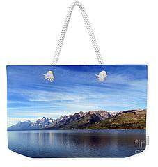 Tetons By The Lake Weekender Tote Bag by Ausra Huntington nee Paulauskaite