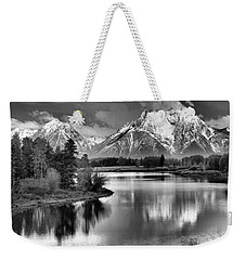 Tetons In Black And White Weekender Tote Bag