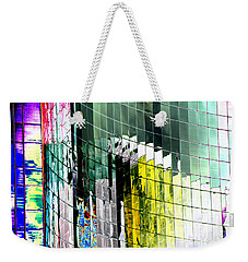 Weekender Tote Bag featuring the photograph Tetris Sunset by Christiane Hellner-OBrien