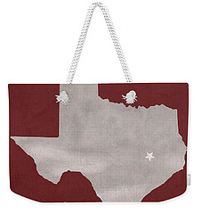 Texas A And M University Aggies College Station College Town State Map Poster Series No 106 Weekender Tote Bag by Design Turnpike