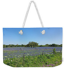 Texas Blue Bonnets Weekender Tote Bag