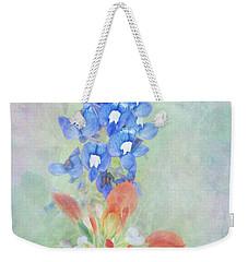 Texas Bluebonnet And Indian Paintbrush Weekender Tote Bag
