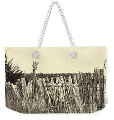 Texas Fence In Sepia Weekender Tote Bag
