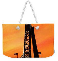 Texas Oil Rig Weekender Tote Bag