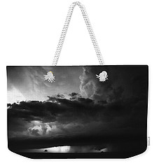 Texas Panhandle Supercell - Black And White Weekender Tote Bag