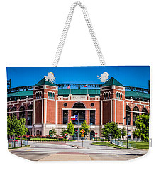Weekender Tote Bag featuring the photograph Globe Life Park In Arlington by Robert Bellomy