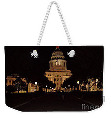 Weekender Tote Bag featuring the photograph Texas State Capital by John Telfer