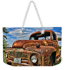 Weekender Tote Bag featuring the photograph Texas Truck by Daniel Sheldon