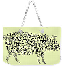 Text Pig Weekender Tote Bag by Heather Applegate