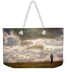 Texting On The Edge Weekender Tote Bag by Gary Slawsky
