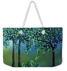 Weekender Tote Bag featuring the painting Texture Trees by Eloise Schneider