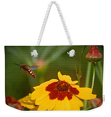 Weekender Tote Bag featuring the photograph Textured Bee by Leticia Latocki