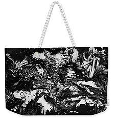 Textured Black And White Series 1 Weekender Tote Bag