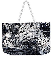Textured Black And White Series 2 Weekender Tote Bag