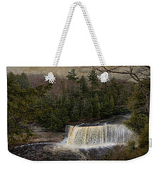 Textured Tahquamenon River Michigan Weekender Tote Bag