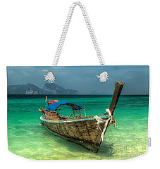 Weekender Tote Bag featuring the photograph Thai Boat  by Adrian Evans