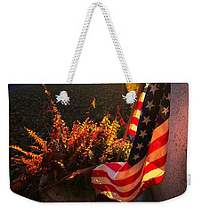 Weekender Tote Bag featuring the photograph Thank You For Serving by Robert McCubbin