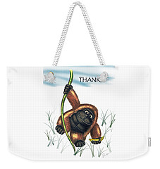 Thanks Weekender Tote Bag by Jerry Ruffin