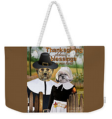 Thanksgiving From The Dogs-2 Weekender Tote Bag
