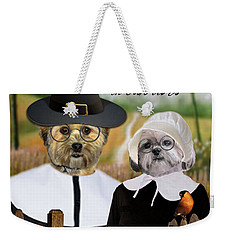Thanksgiving From The Dogs Weekender Tote Bag