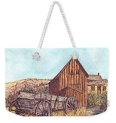 Weekender Tote Bag featuring the drawing That Which Once Was by Carol Wisniewski