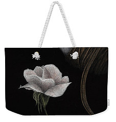 Weekender Tote Bag featuring the painting That Which Will Not Be Silenced by Pat Erickson