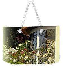 Thatched Cottage Window Weekender Tote Bag