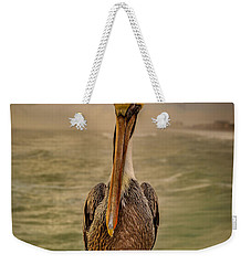 Weekender Tote Bag featuring the photograph That's Mr. Pelican To You by Steven Reed