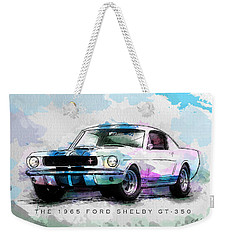 The 1965 Ford Shelby Gt 350  Weekender Tote Bag