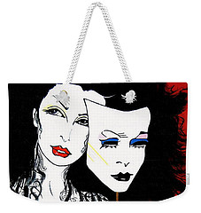 The 2 Face Girl Weekender Tote Bag