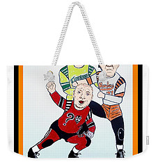 The 3 Stooges Playing Roller Derby Weekender Tote Bag