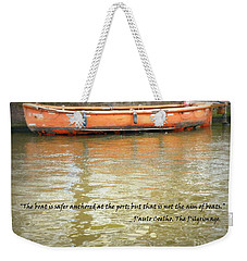 The Aim Of Boats Weekender Tote Bag