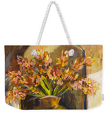 Weekender Tote Bag featuring the painting The Alcove by Avonelle Kelsey