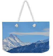 The Alps In Azure Weekender Tote Bag