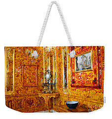 The Amber Room At Catherine Palace Weekender Tote Bag