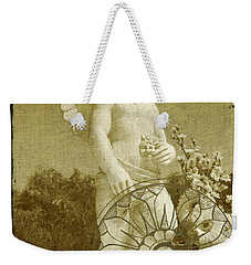 Weekender Tote Bag featuring the digital art The Angel - Art Nouveau by Absinthe Art By Michelle LeAnn Scott