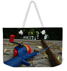Weekender Tote Bag featuring the photograph The Anglers by Peter Piatt