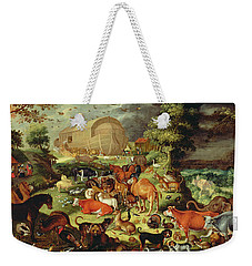The Animals Entering The Ark Weekender Tote Bag by Jacob II Savery