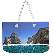 Weekender Tote Bag featuring the photograph The Arch  Cabo San Lucas On A Low Tide by Eti Reid