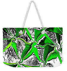Weekender Tote Bag featuring the photograph Green Connections by Kellice Swaggerty